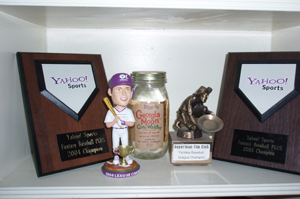 My Fantasy Baseball Trophy Shelf