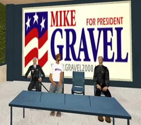 Mike Gravel 2008 Campaign Headquarters In Second Life