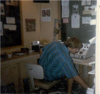 Jim at KFSR in 1985