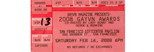 GayVN Ticket.